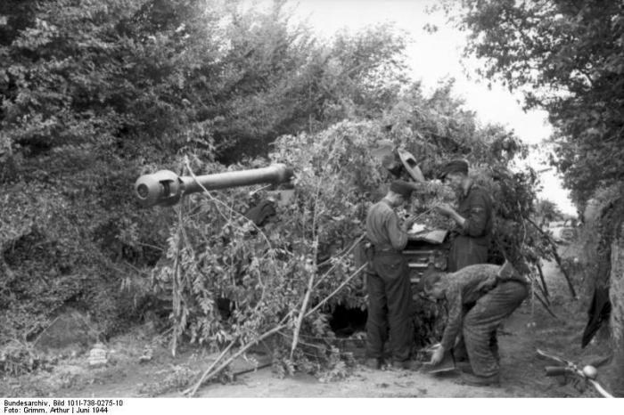 villers bocage 1944 wittmann camuflaje tiger