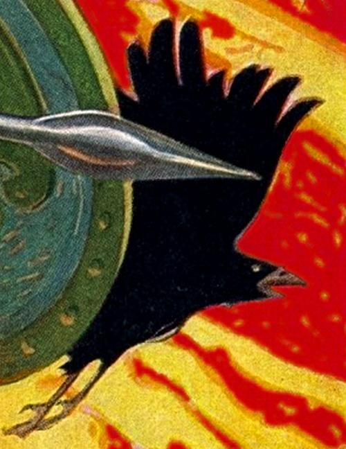 El Morrígan como Cuervo de batalla