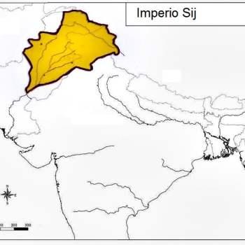 Ubicación y límites aproximados del Imperio sij. (wikimedia)