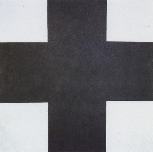Malévich cruz negra creador suprematismo