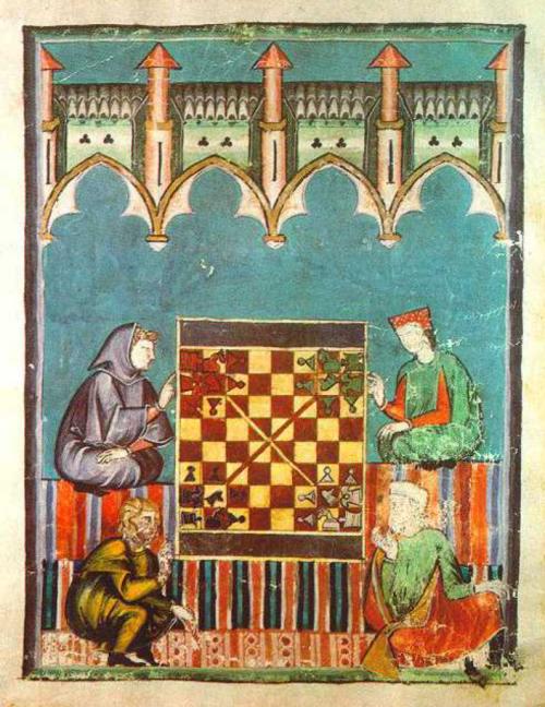 Açedrez de los quatro tiempos juegos de mesa medievales