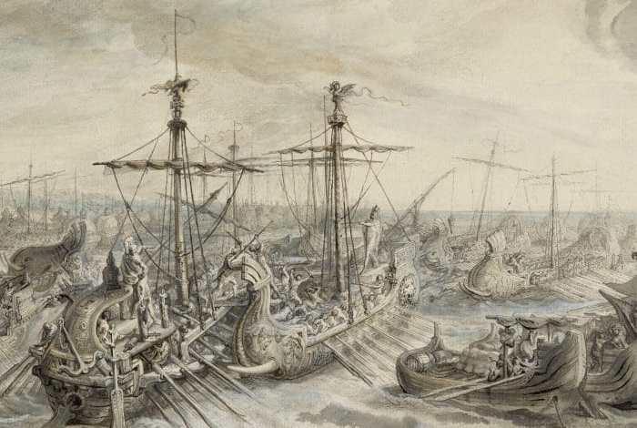 La batalla naval cerca de Ecnomus (256 aC)