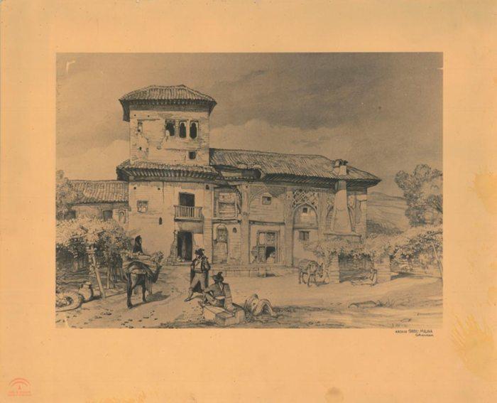 Partal, denominado como Casa de Sánchez, en el tiempo que estaba habitada.
