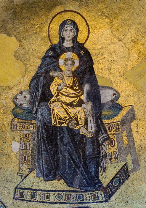 icono bizancio iconoclastia virgen