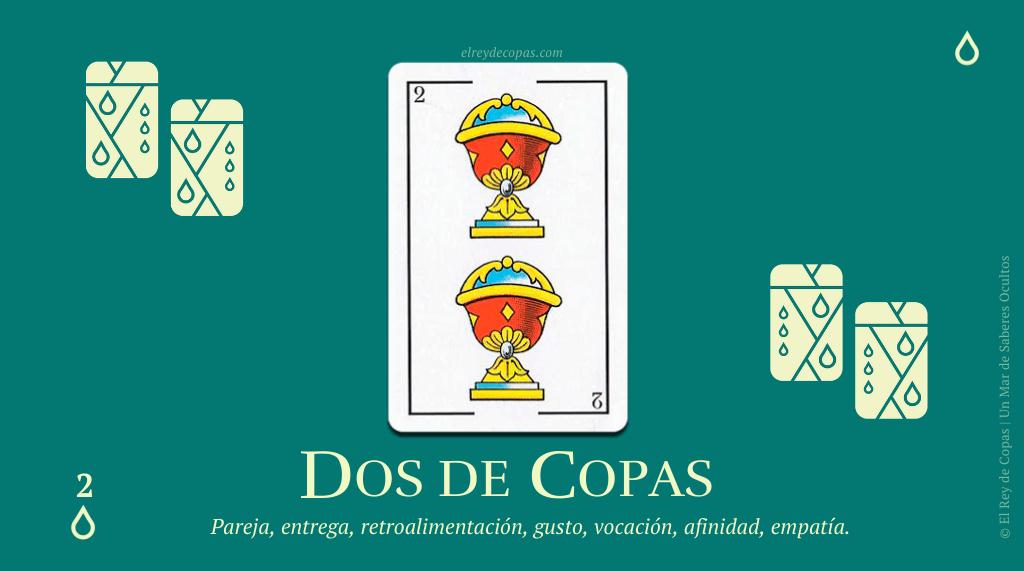 El Dos de Copas y su significado en La Baraja Española