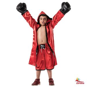 disfraz boxeador rojo