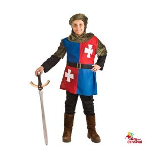 disfraz infantil medieval azul