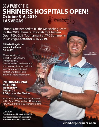 2CL_Shriners Hospitals for Children Open_flyer_032619