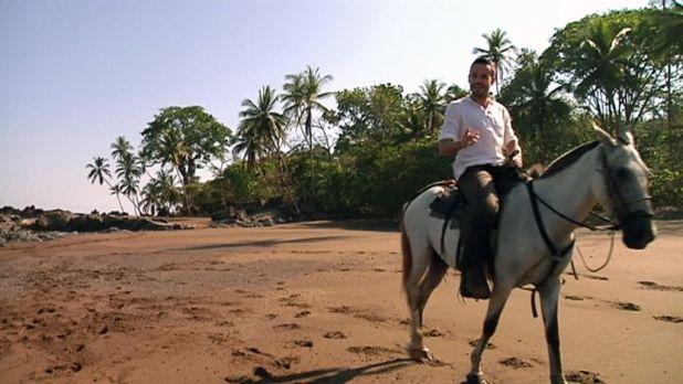 Lucas Goikoetxea a caballo