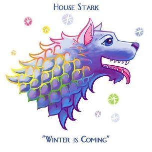 Casa Stark estilo Lisa Frank