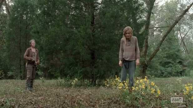 The Walking Dead 4x14 The Grove - Carol mata a Lizzie