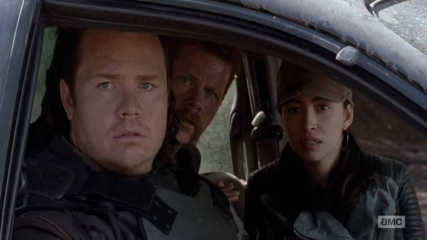 The Walking Dead 4x15 Us - Abraham, Eugene y Rosita deciden volver al túnel