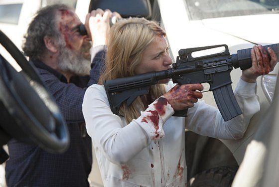 Homeland 4x10 - Carrie y Saul defendiéndose tras el atentado