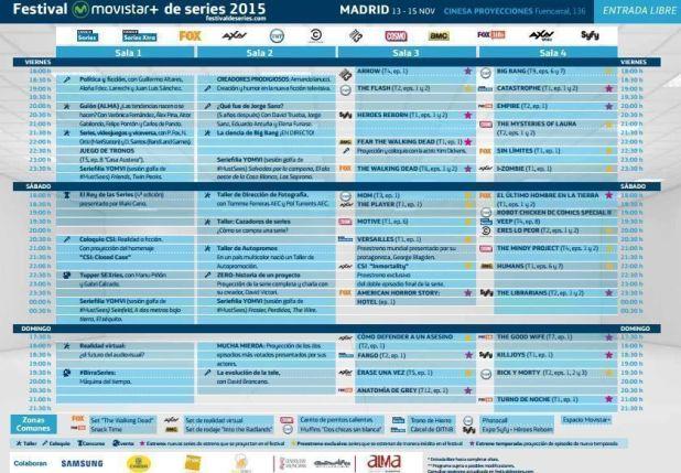 Programa Festival de Series 2015