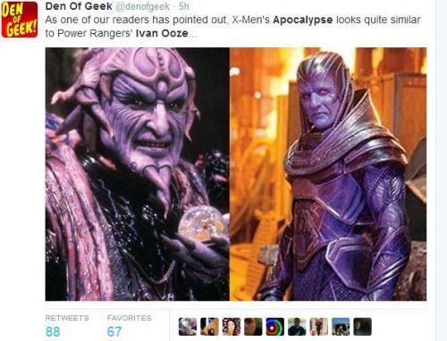 Apocalypse y su excesivo parecido a los Power Rangers