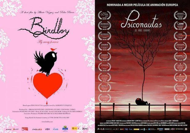 Psiconautas, los niños olvidados goya a la mejor película de animación y Birdboy Goya al mejor corto de animación
