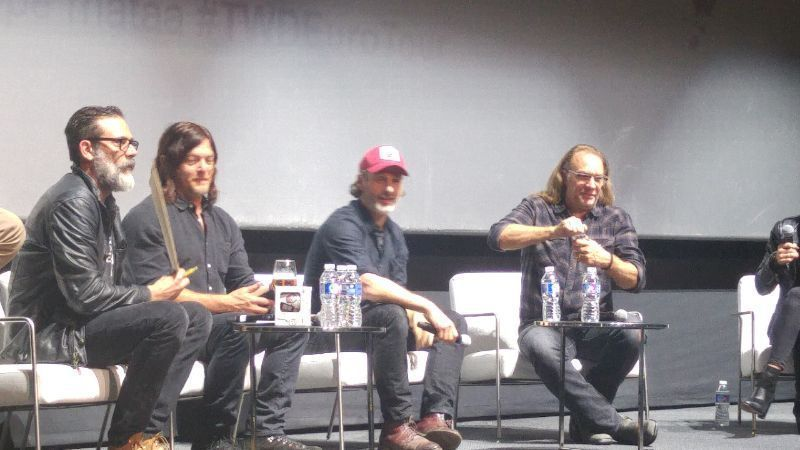 The Walking Dead Eurotour 2017 Andrew Lincoln (Rick Grimes), Norman Reedus (Daryl Dixon), Jeffrey Dean Morgan (Negan) y Greg Nicotero
