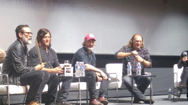 The Walking Dead Eurotour 2017 Andrew Lincoln (Rick Grimes), Norman Reedus (Daryl Dixon), Jeffrey Dean Morgan (Negan) y Greg Nicotero