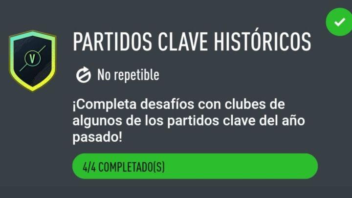 Desafío de Creacion de Plantillas Fifa 20. Partidos Clave Históricos