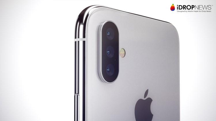 Render del iPhone con triple cámara (amateur)