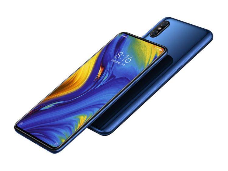 Xiaomi Mi Mix 3 en color azul.