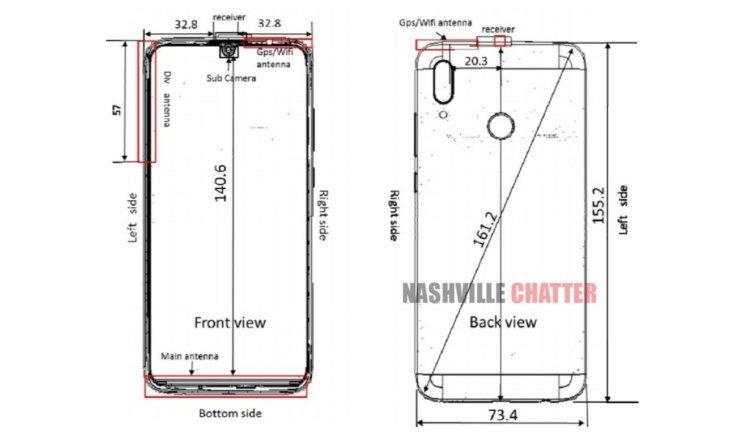 Huawei-P-Smart-2019-FCC-sketch