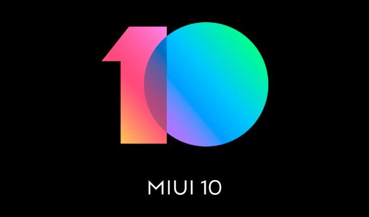 Logo de MIUI 10, la capa de personalización de Xiaomi