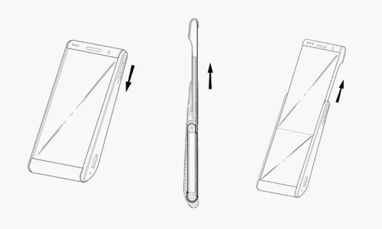 Así luce la patente de Samsung sobre su terminal enrollable
