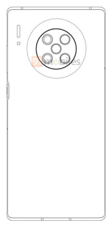 Huawei-Mate-40-Pro-patent-penta-camera