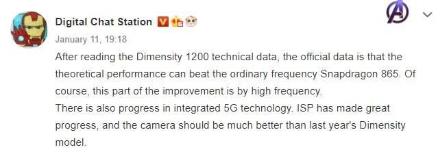 El nuevo Dimensity 1200 promete superar un poderoso chip de Qualcomm