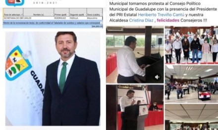 GUADALUPE: EL CINISMO DE UTILIZAR RECURSOS PÚBLICOS SIN RECATO, CARLOS RODRÍGUEZ PADILLA SECRETARIO DE OBRAS PÚBLICAS ( SIN HACER UNA SOLA) ¡ORGANIZA AL PRI PARA 2021!