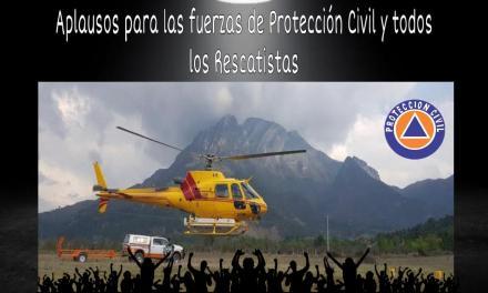 UN APLAUSO DE PIE PARA LAS FUERZAS VIVAS DE PROTECCIÓN CIVIL Y TODOS LOS RESCATISTAS QUE HAN SOFOCADO EN UN 70% EL INCENDIO DE LA SIERRA