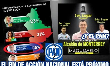 A JUZGAR DE LAS ENCUESTAS, VIVIRÁ ACCIÓN NACIONAL LA MÁS GRANDE DE LAS VERGÜENZAS EN ESTA ELECCIÓN
