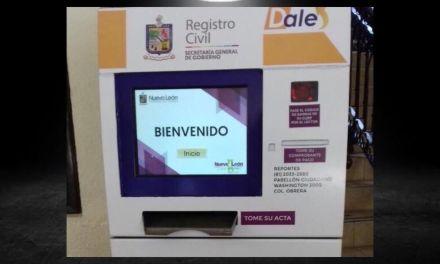 POR MANTENIMIENTO, PERMANECERÁN CERRADOS CAJEROS DE REGISTRO CIVIL DE NUEVO LEÓN<br>