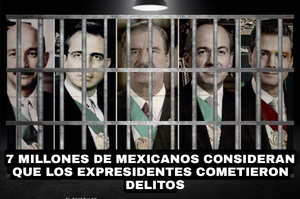 LA VERDADERA RESPUESTA DE AYER ES QUE MÁS DE 7 MILLONES, LÉALO BIEN, 7 MILLONES DE MEXICANOS CONSIDERAN QUE VICENTE FOX, FELIPE CALDERÓN, PEÑA NIETO, SALINAS DE GORTARI Y ERNESTO ZEDILLO COMETIERON DELITOS