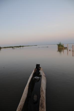 Lake Turkana at sunset in Todenyang