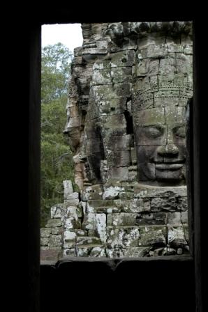 Faces at the Bayon temple in Angkor Thom