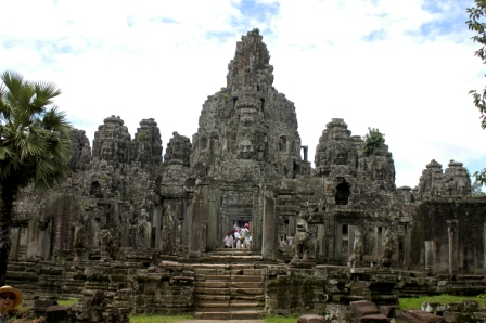 Bayon temple, in Angkor Thom