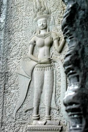 Bas relief of apsara