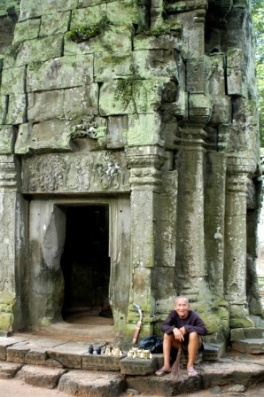 Old temple keeper of Ta Prohm
