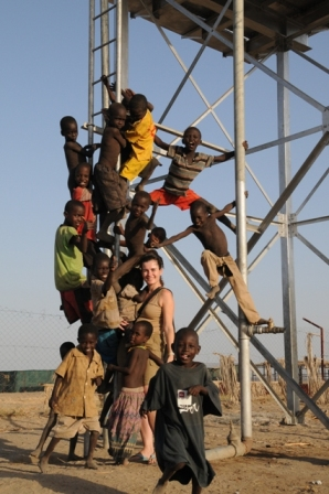 "Todonyang, Turkana, 2009. ""Sorry, guys, I have only 2 arms, cannot hold 10 children...!"""