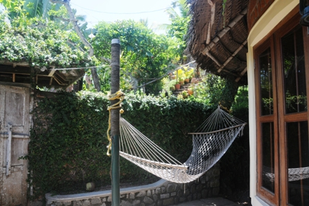 Hammock in my cottage... great for meditation and relaxation!