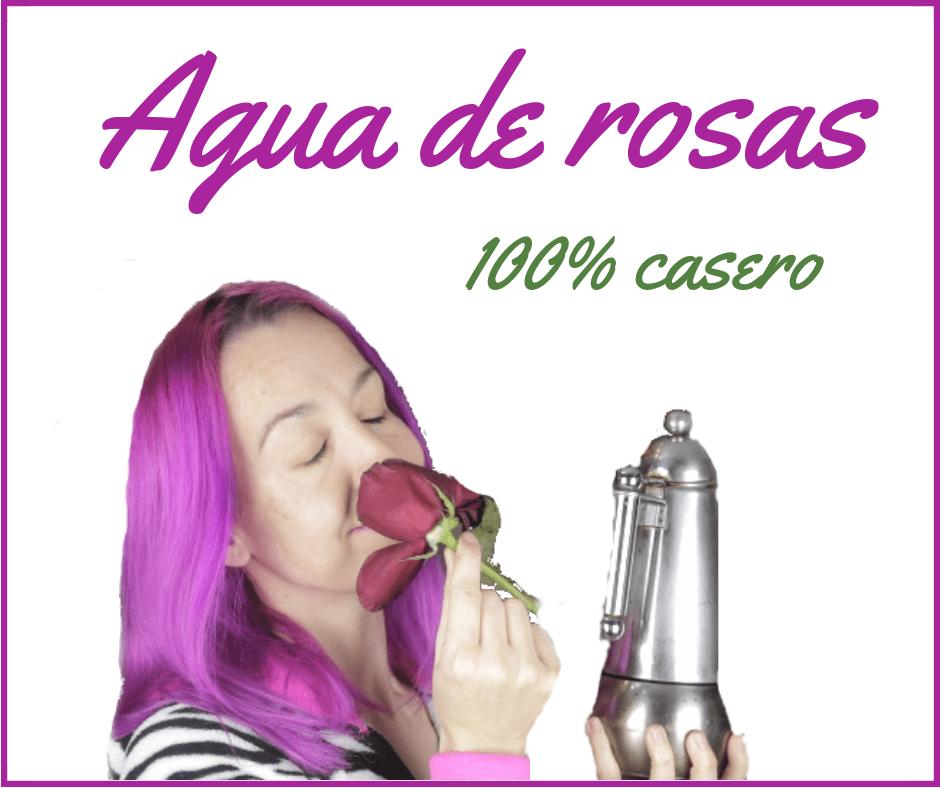 Agua de rosas casero