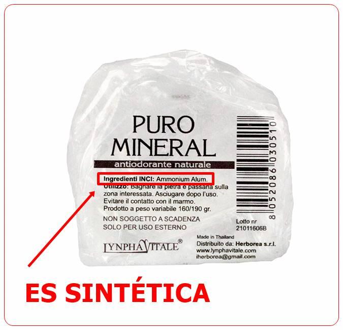 piedra de alumbre sintética