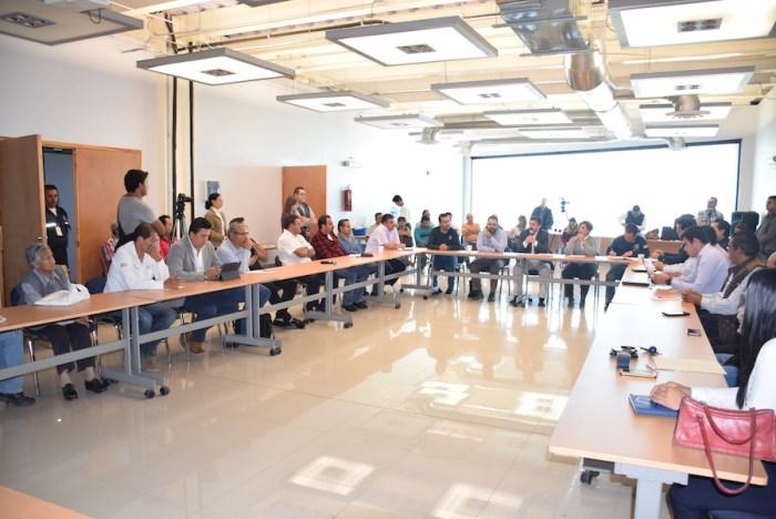 Reunión del 14 de noviembre de 2017 cuando se prometió mejor transporte en Lagos de Moreno