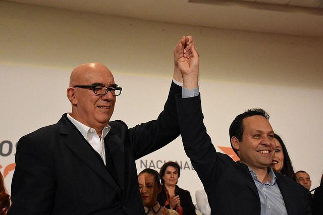 Dante Delgado y Clemente Castañeda