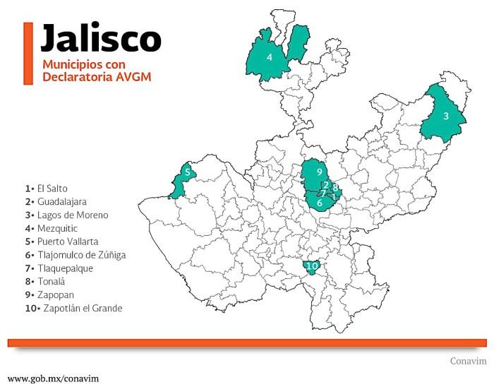 Alerta de Violencia de Género contra las Mujeres en Jalisco
