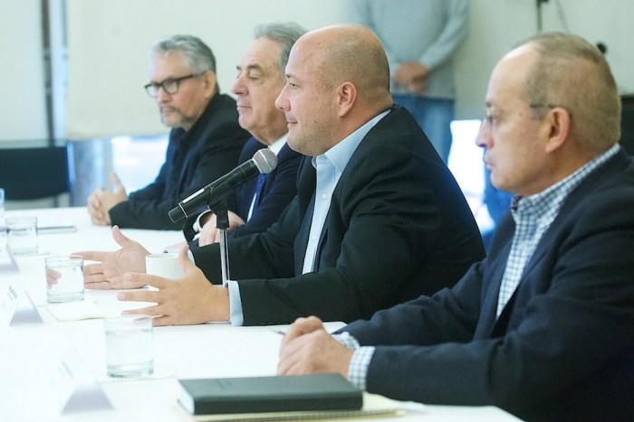 Enrique Alfaro en rueda de prensa sobre cifras de seguridad en Casa Jalisco