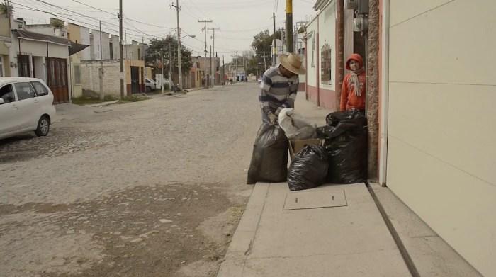 Recolección de basura en Lagos de Moreno