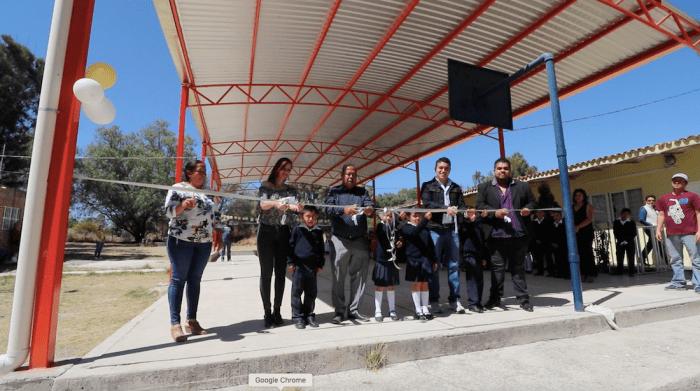 Domo en la Escuela Cuauhtémoc de El Cerrito